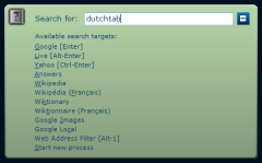 slimSEARCH - Look up your predefined search providers shortcuts or prefixes